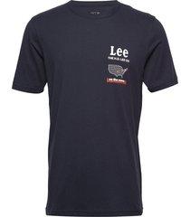 road tee t-shirts short-sleeved blå lee jeans