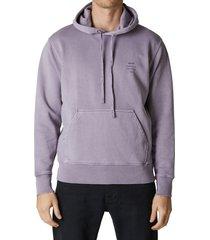 men's neuw denim washed cotton hoodie, size x-large - purple