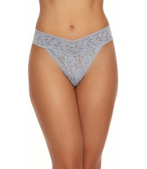 hanky panky regular rise lace thong in shng armor at nordstrom