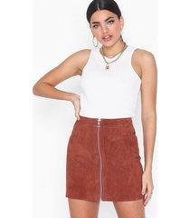vero moda vmsana zip suede short skirt minikjolar