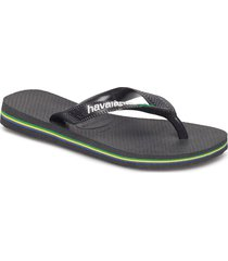 hav brazil logo shoes summer shoes flip flops svart havaianas