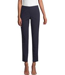 elie tahari women's jillian slim pants - black - size 0