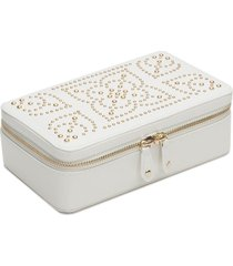 wolf 'marrakesh' zip jewelry case - ivory