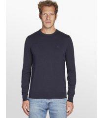 sweater azul calvin klein ckj chest logo sweater