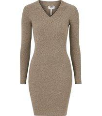 klänning objfae thess l/s rib knit dress seasonal