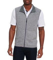men's robert graham klose vest, size small - grey