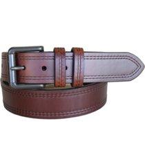 lejon men's double haul oil tanned harness leather casual jean belt