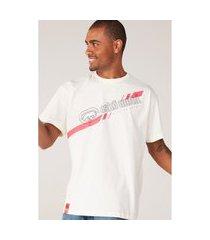camiseta ecko plus size estampada off white