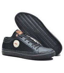 sapatenis em couro e lona , solado costurado calce fácil cadarço elástico tipo bota