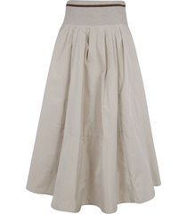 brunello cucinelli high-waist flared skirt