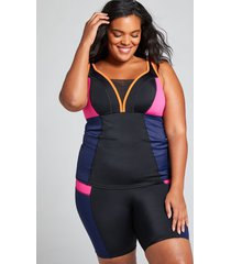 lane bryant women's fitted no-wire swim tankini top 18 fuchsia