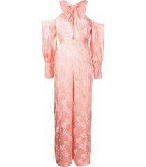 alice mccall memory lane satin jumpsuit - pink