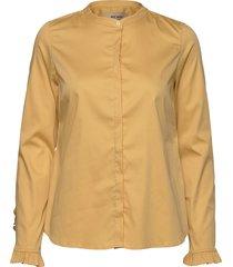 mattie sustainable shirt overhemd met lange mouwen geel mos mosh