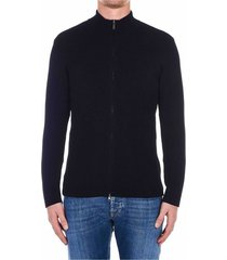 zip-through knitted jacket