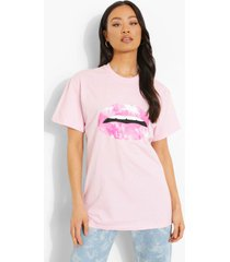 oversized t-shirt met lippen, light pink
