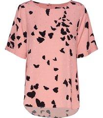 slfloretta ss top b t-shirts & tops short-sleeved roze selected femme