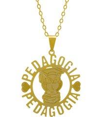 gargantilha horus import pedagogia dourado