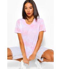 tie dye t shirt, light pink