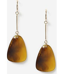 *tortoiseshell drop earrings - brown