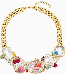 collana optimum, multicolore, placcato oro