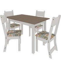 conjunto mesa com 4 cadeiras indékes dallas, salinas avalon e alaska