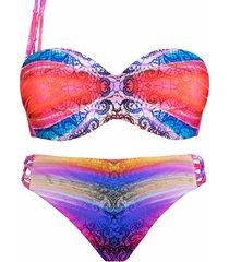 bikini luna 2-delige voorgevormde set 1 regenbooglunariem