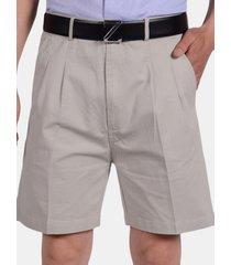 pantaloncini da uomo casual in cotone tinta unita comodi da spiaggia