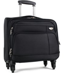 "american green travel franklin 17"" carry-on spinner computer briefcase"