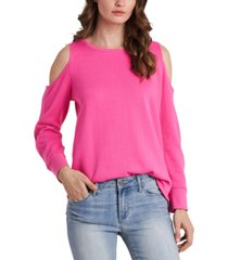vince camuto cold-shoulder snap-sleeve top