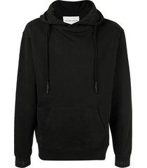 strateas carlucci logo cuff hoodie - black
