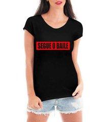 blusa criativa urbana segue o baile t-shirt feminina