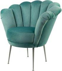 fotel miętowa muszelka tapicerowany lux-3