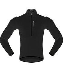 los hombres pro cycling jersey de manga larga de bicicleta mtb bike camiseta traje vestido negro