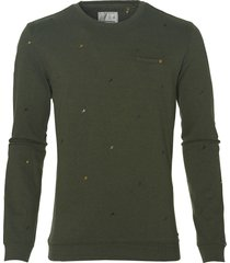no excess pullover - modern fit - groen