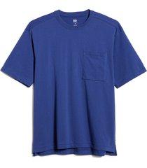 bp. unisex cotton pocket t-shirt, size small - blue
