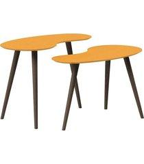 conjunto de mesa feijão pinoquio amarelo