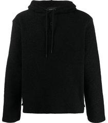 craig green fleece hoodie - black