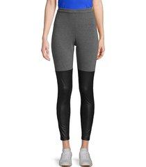 bcbgmaxazria women's colorblock stretch leggings - black - size s