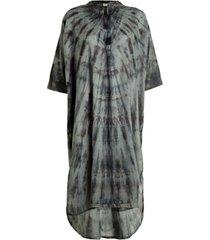 katoenen tie-dye jurk klara  grijs