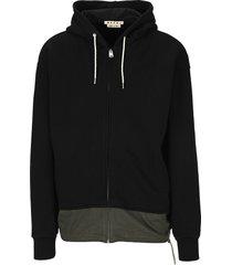 marni two tone hoodie;