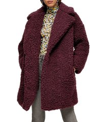 women's topshop frenchy big borg coat