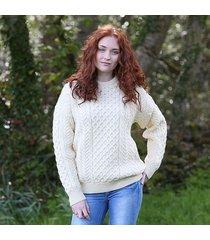 traditional aran sweater cream xxl