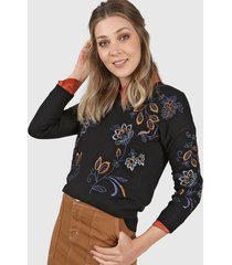 sweater negro ted bodin bordado