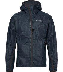 ansur hooded wind jacket m's outerwear sport jackets blå klättermusen