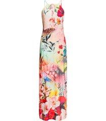 abito estivo lungo a fiori (rosa) - bodyflirt boutique