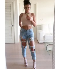 jn43 cflb ripped boyfriend distressed destroyed womens jeans size 6 8 10 12