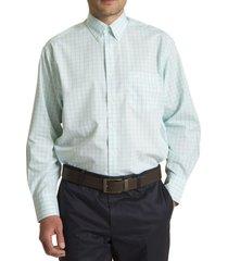 camisa libre de arrugas verde rockford