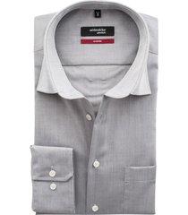 seidensticker modern grijs overhemd chambray