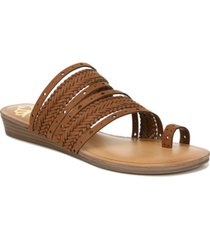 fergalicious tatum toe thong wedge sandals women's shoes