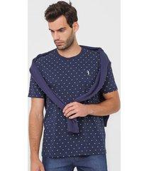 camiseta aleatory estampada azul-marinho - azul marinho - masculino - algodã£o - dafiti